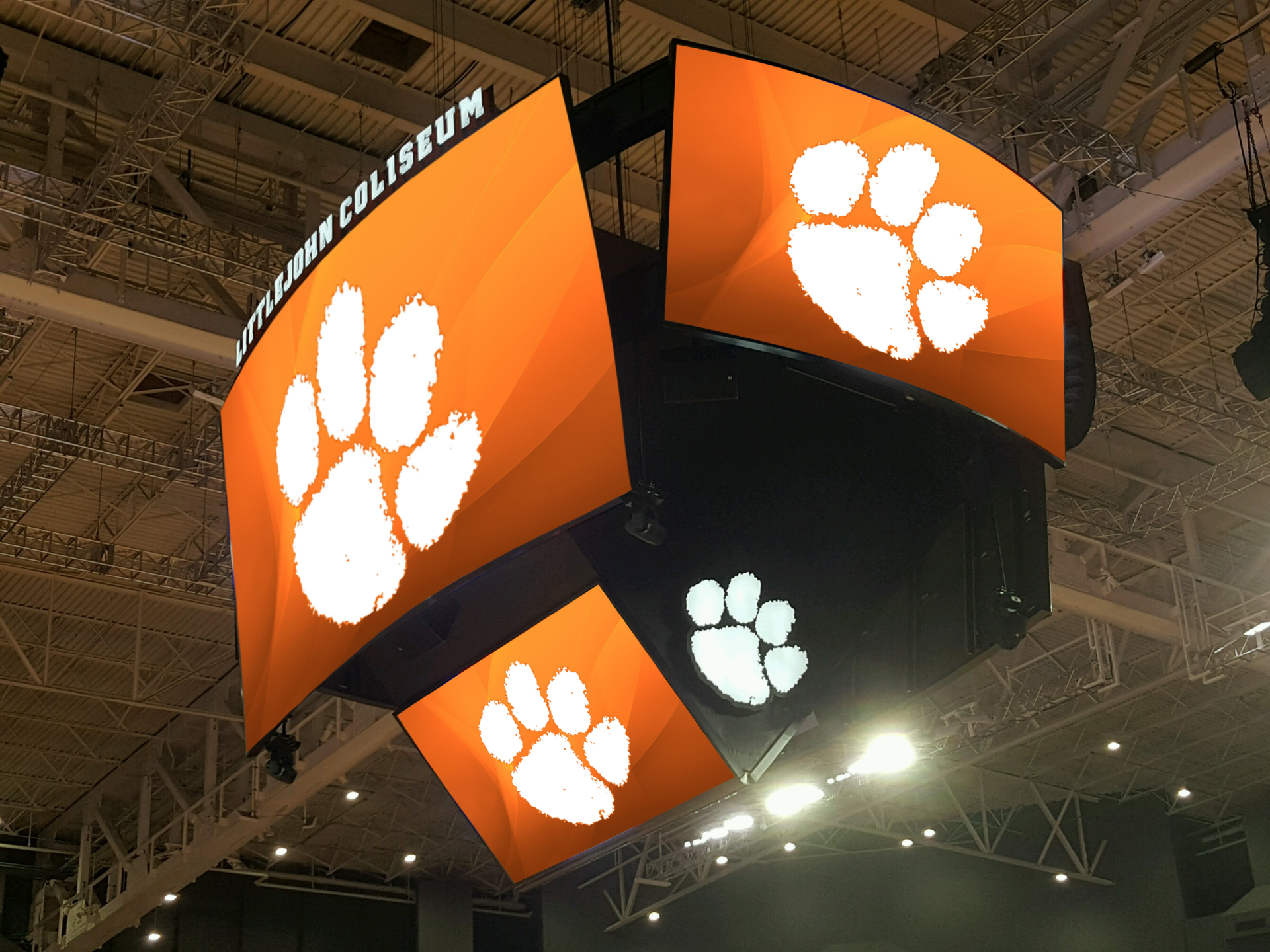 AJP, Anthony James Partners, AV Consulting, Center Hung, Centerhung, College Sports, College Basketball, ACC Coastal Division, LED Video Scoreboard, LED, LED Video, Scoreboard, Video Board, Boxcar, Box Car