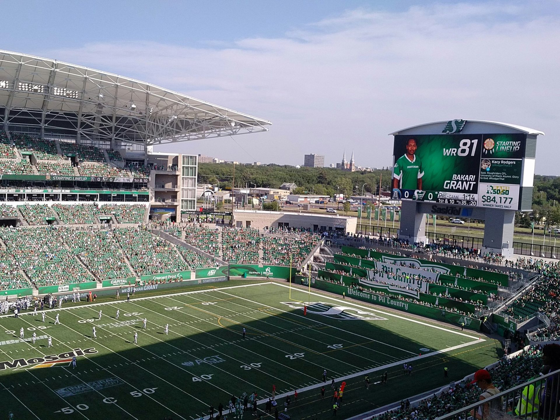 CFL, Canadian Football League, AJP, Anthony James Partners, AV Consulting, Control Room, Video Replay, Broadcast Cabling, Infrastructure Cabling, IPTV, CATV, Distributed TV, POS, Wi-Fi, Wifi, High Definition, LED Scoreboard, LED Video, LED Videoboard