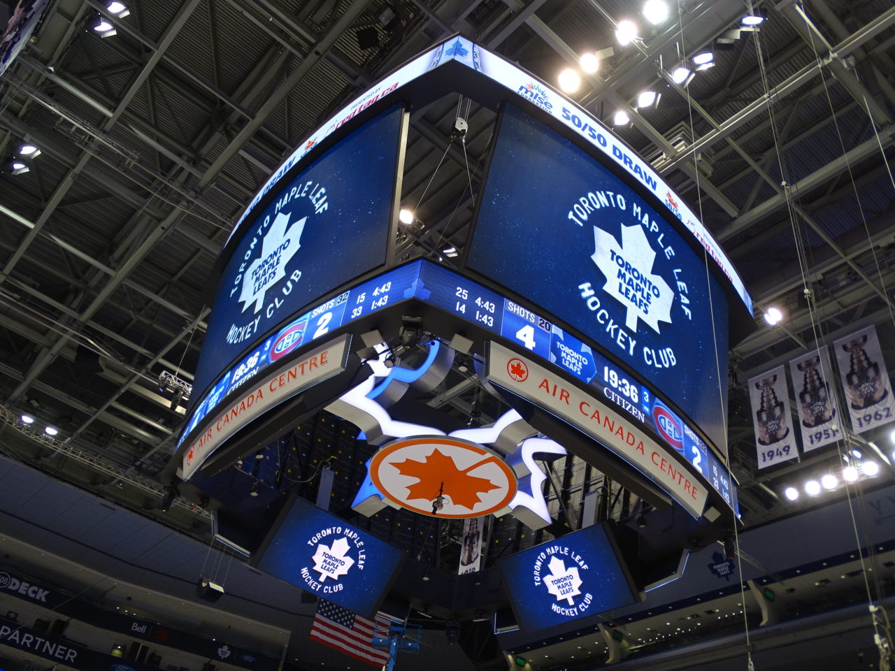 Toronto Maple Leafs, Air Canada Center, LED Scoreboard Display, Center Hung