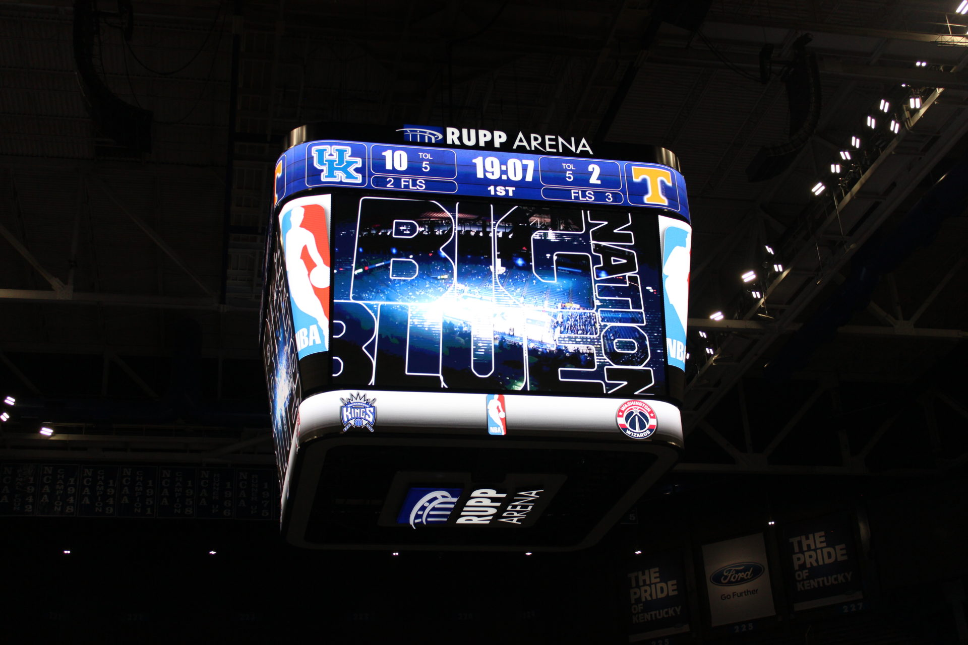 Rupp Arena unveils its new video board, designed by AJP in Partnership with Rupp Arena.