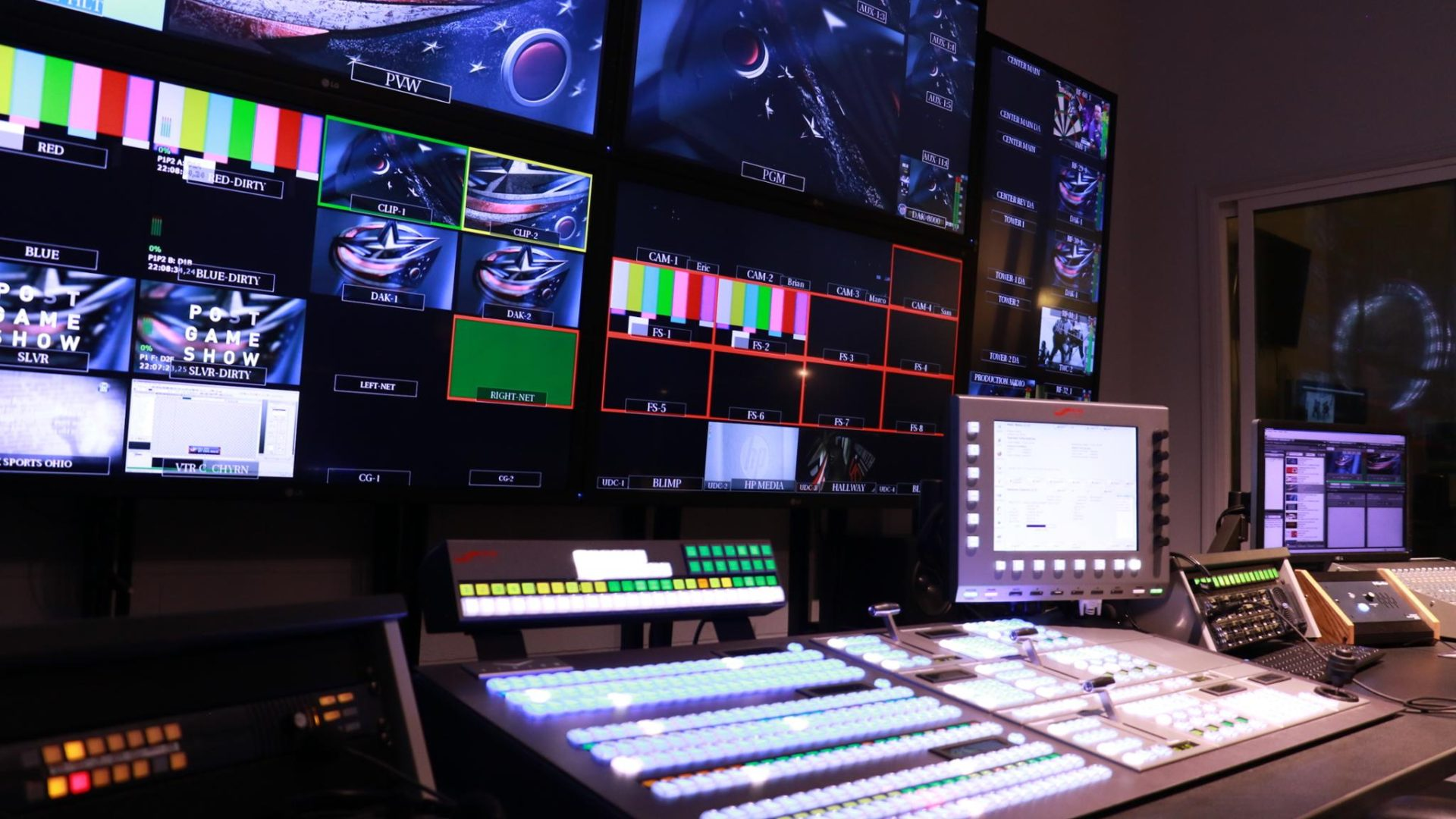 AV, Audio Visual, Video Replay Control Room, Broadcast