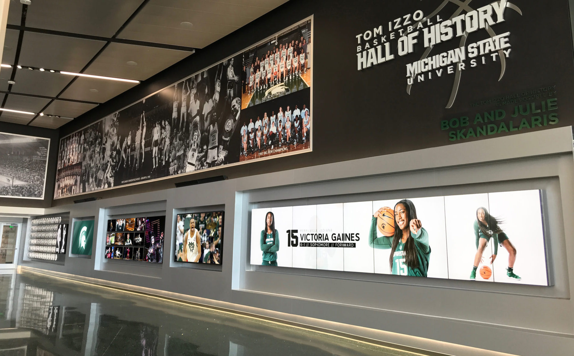 Hall of History, College, Michigan State University, Spartan, Basketball, MSU, AJP, Anthony James Partners, Big 10 Conference, LED videoboard, LED video display, LED display