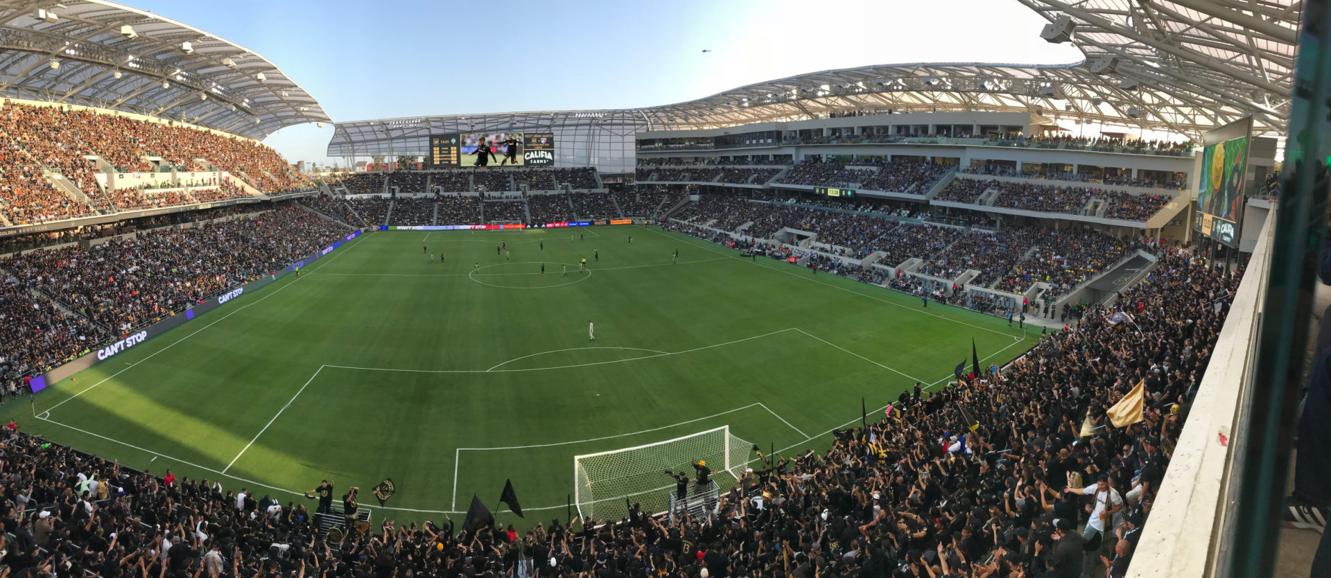 AJP, Anthony James Partners, AV Consulting, Control Room, Video Replay, Broadcast Cabling, IPTV, CATV, Distributed TV, Basketball, Center Hung, LAFC, Professional Soccer, High Definition, LED Scoreboard, LED Video, LED Videoboard
